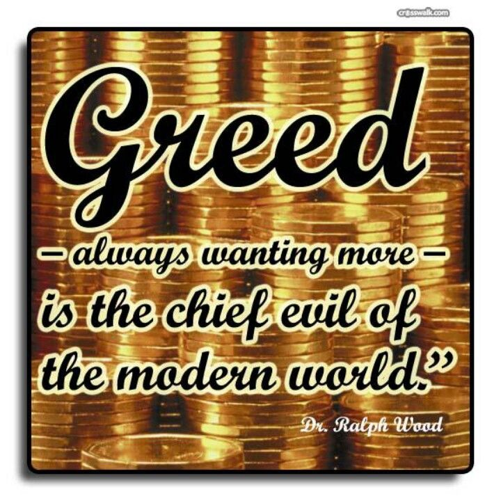 themes about greed