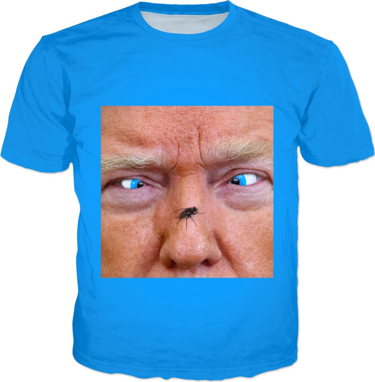 Trump Eye Reflection Funny Meme T Shirt Cross Eyed Fly On Nose Https Www Rageon Com Products Trump Eye Reflection Funny Graphic Apparel Shirt Sketch Rageon