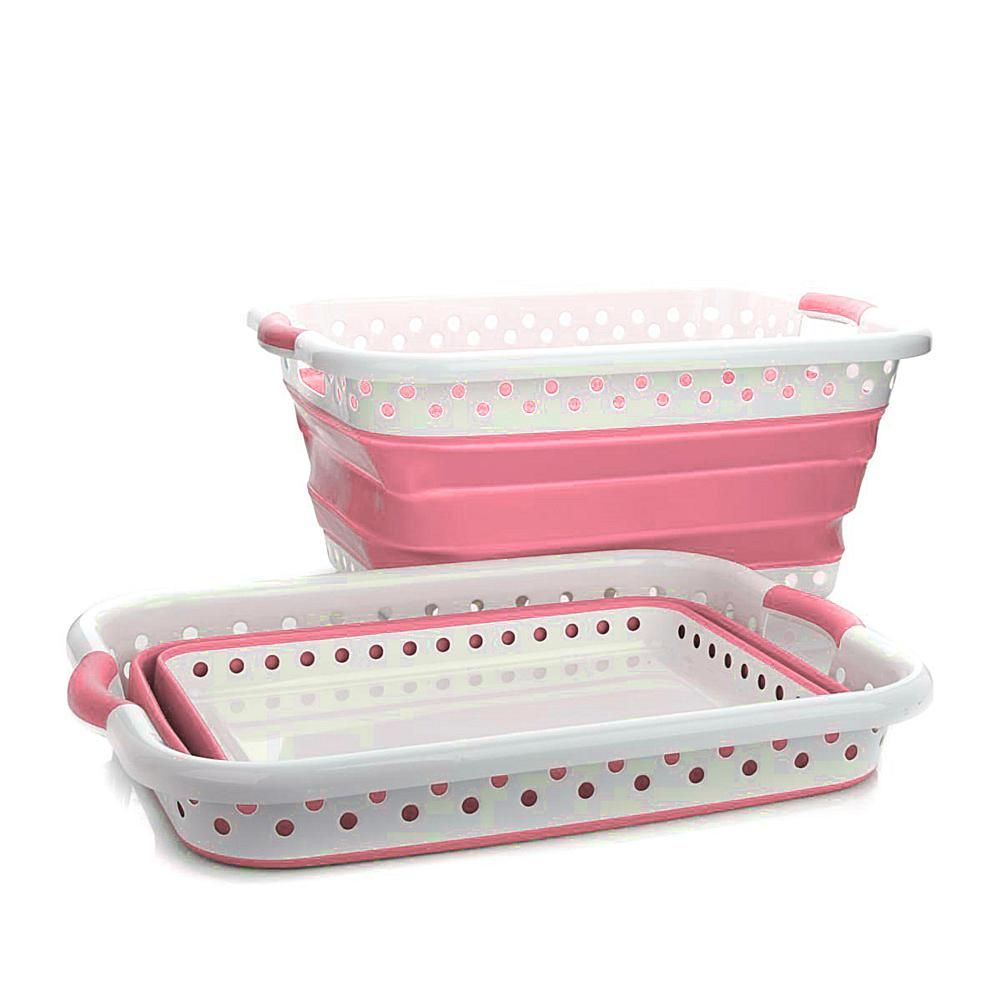 Exclusive Storesmith 2 Pack Collapsible Laundry Baskets