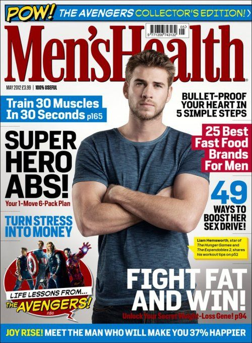 The Avengers (2012): Men's Health Magazine Cover With Thor