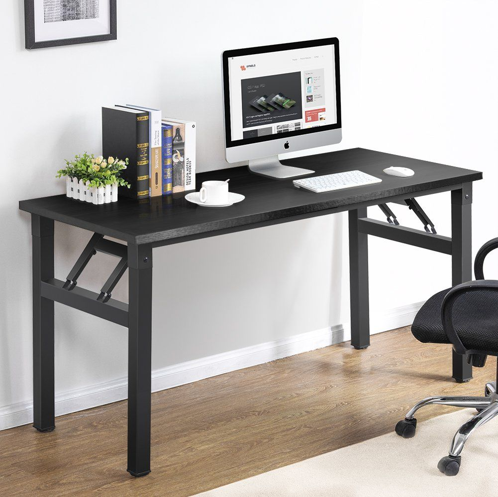 Folding Desk, Computer Office Desk Workstation  Desk, Folding