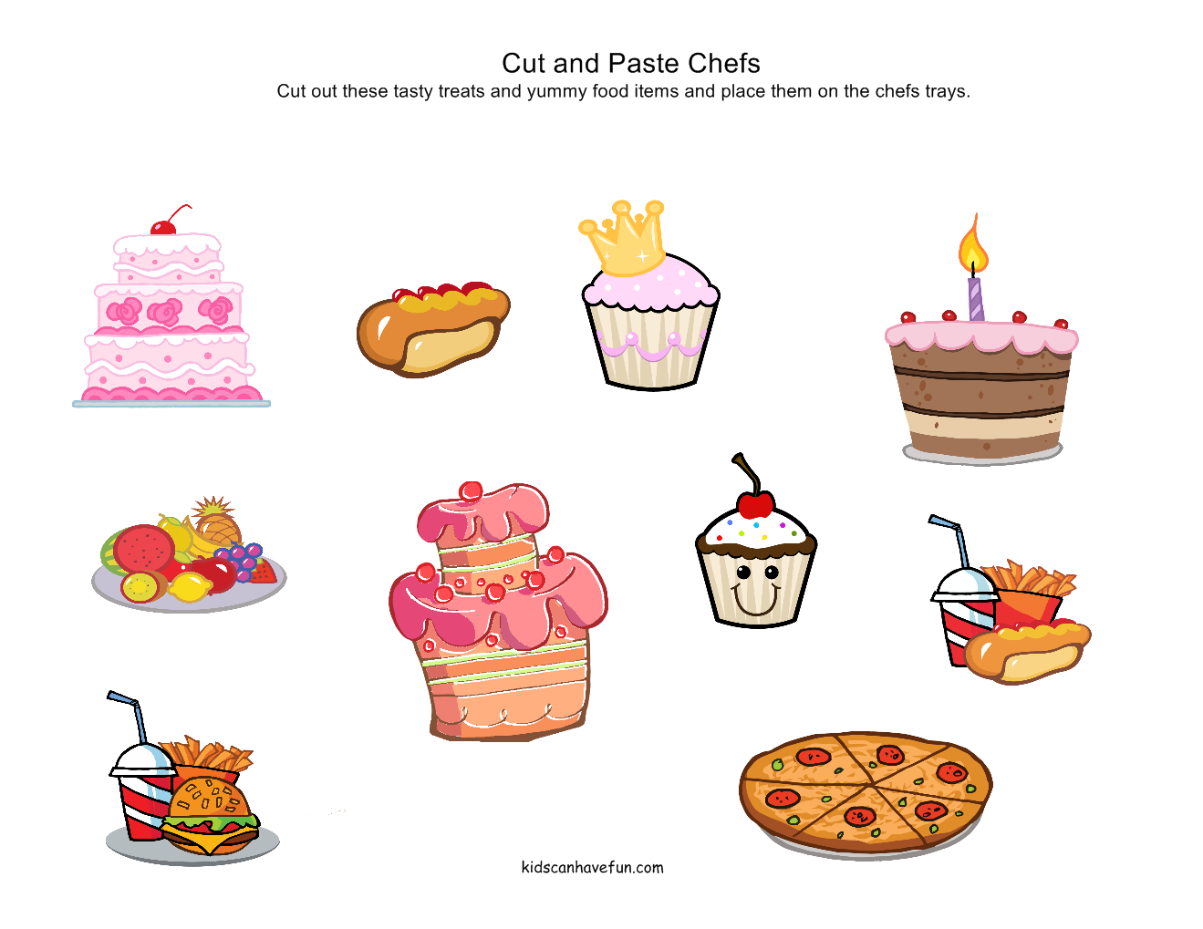 Food Worksheets Cut Amp Paste Activities Food Pyramid