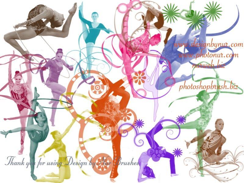 Gymnastics Symbols Rhythmic Gymnastics Includes 15 Rhythmic