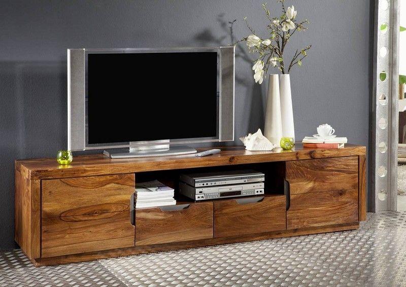 TV – Board / modern / Sheesham Palisander lackiert / Walnuss / 200 x 45 x 50