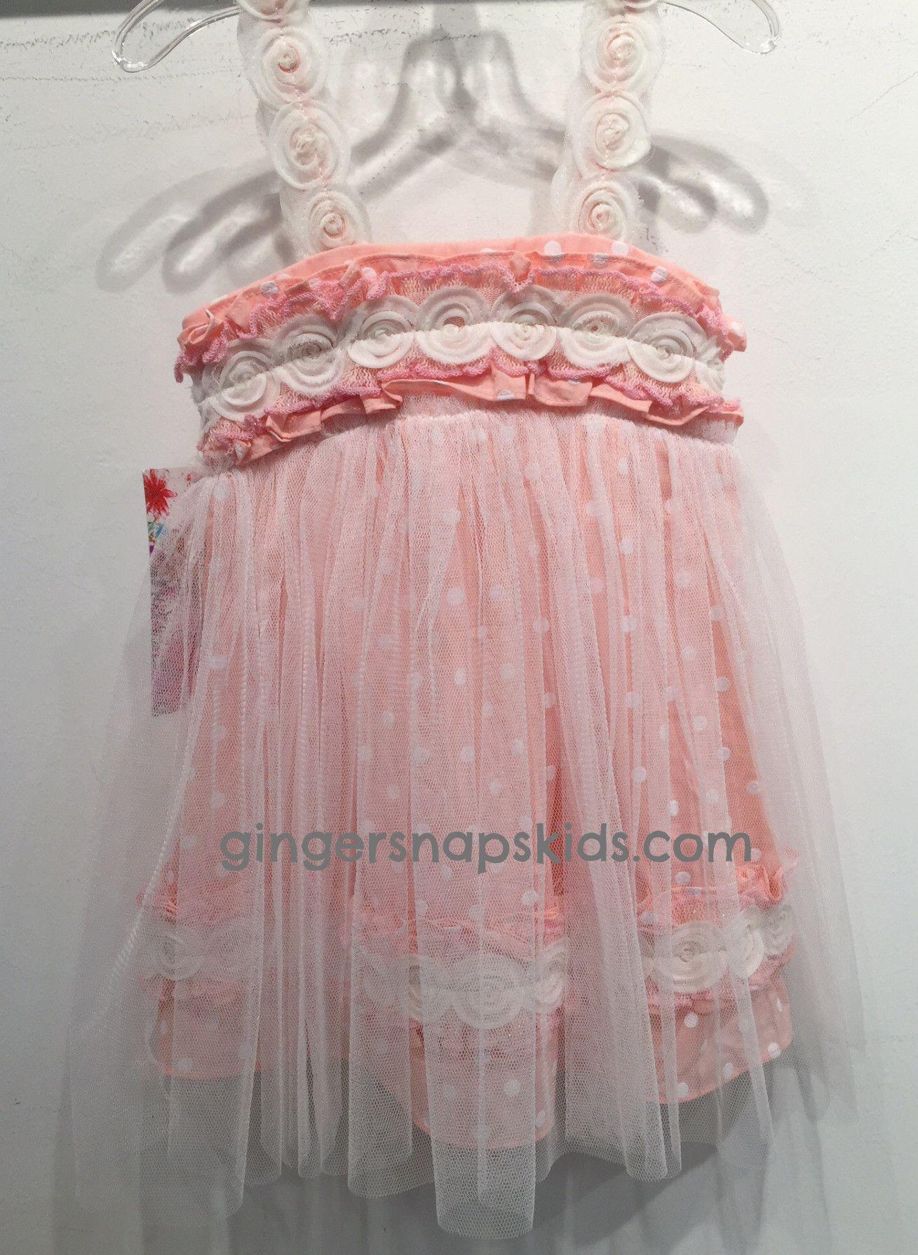 Baby Sara Polka Doodle Polka Dot Dress sz 4T last one