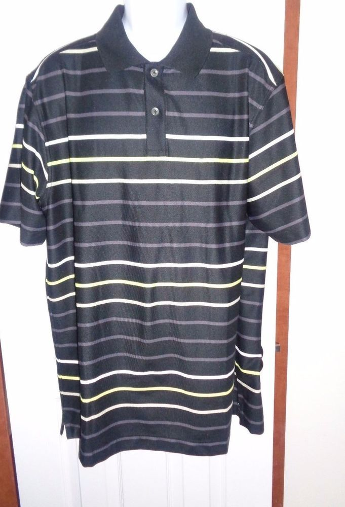 Callaway X Series Golf Polo Shirt Mens Size 2xl Black Striped
