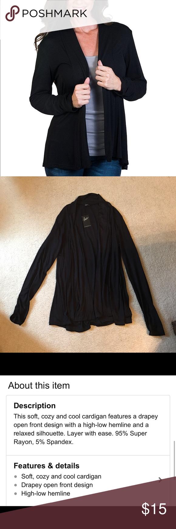 Agiato Women's Long Sleeve Basic Cardigan, Medium | Lightweight ...