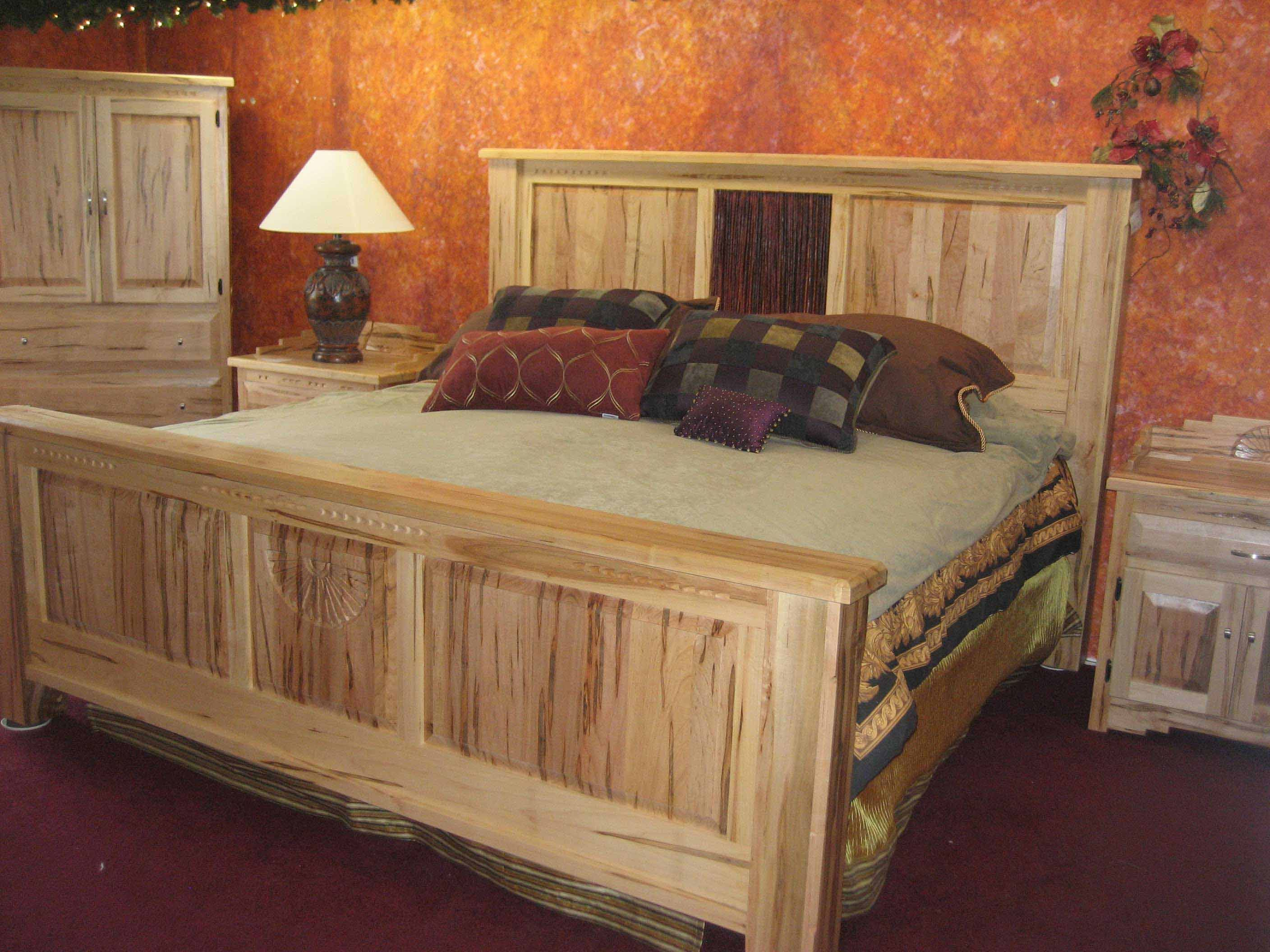 All Wood Bedroom Furniture Cool Rustic Design Ideas With Brown Oak Wood  Platform Bed And Headboard. Wormy maple bed for your bedroom   Southwest Interiors Furniture