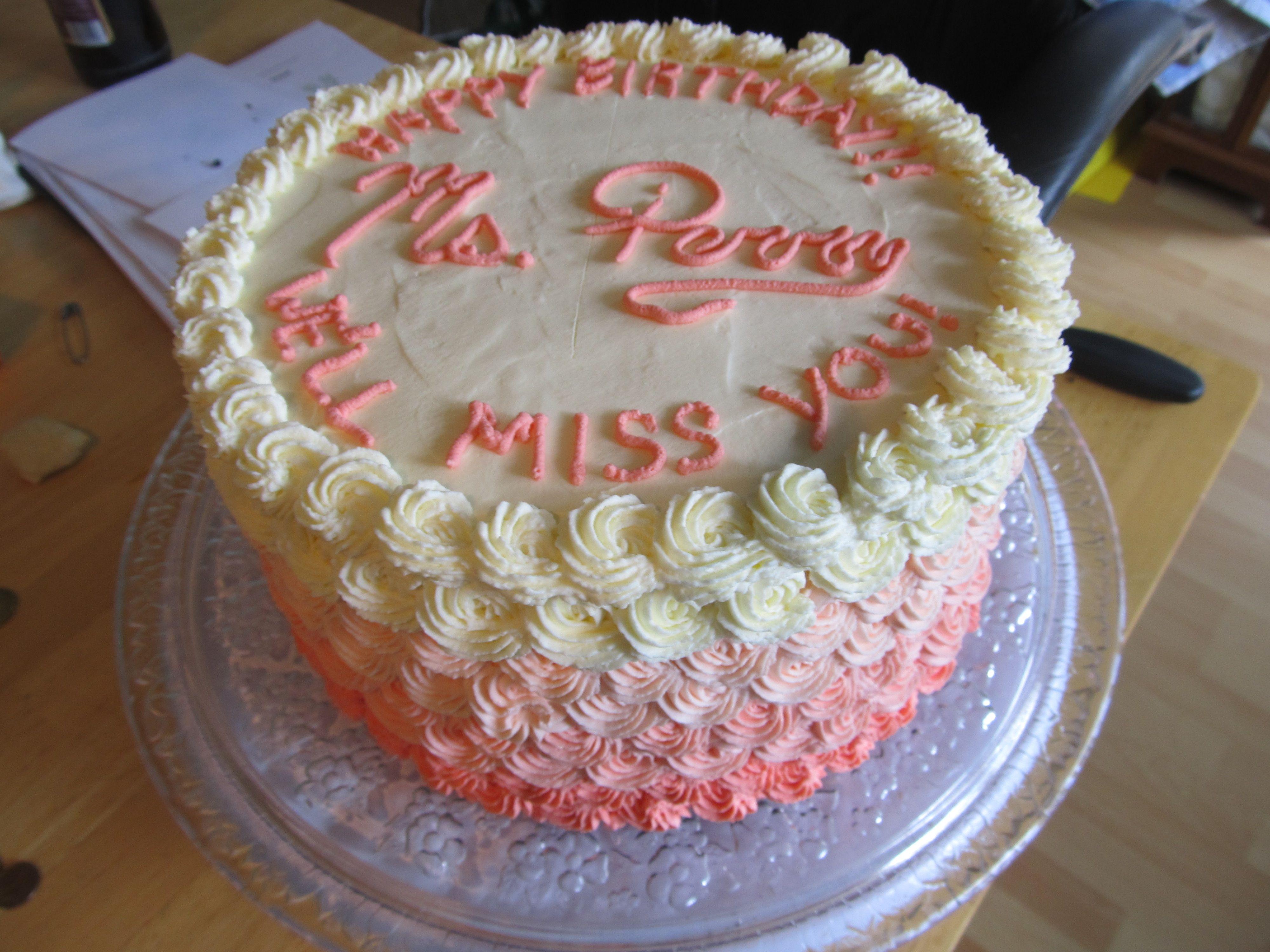 Birthday Cakes Combination Happy Birthday Farewell Cake For The Student Teacher In My Son S Class Chocolate Farewell Cake Cake Fresh Cream Birthday Cake