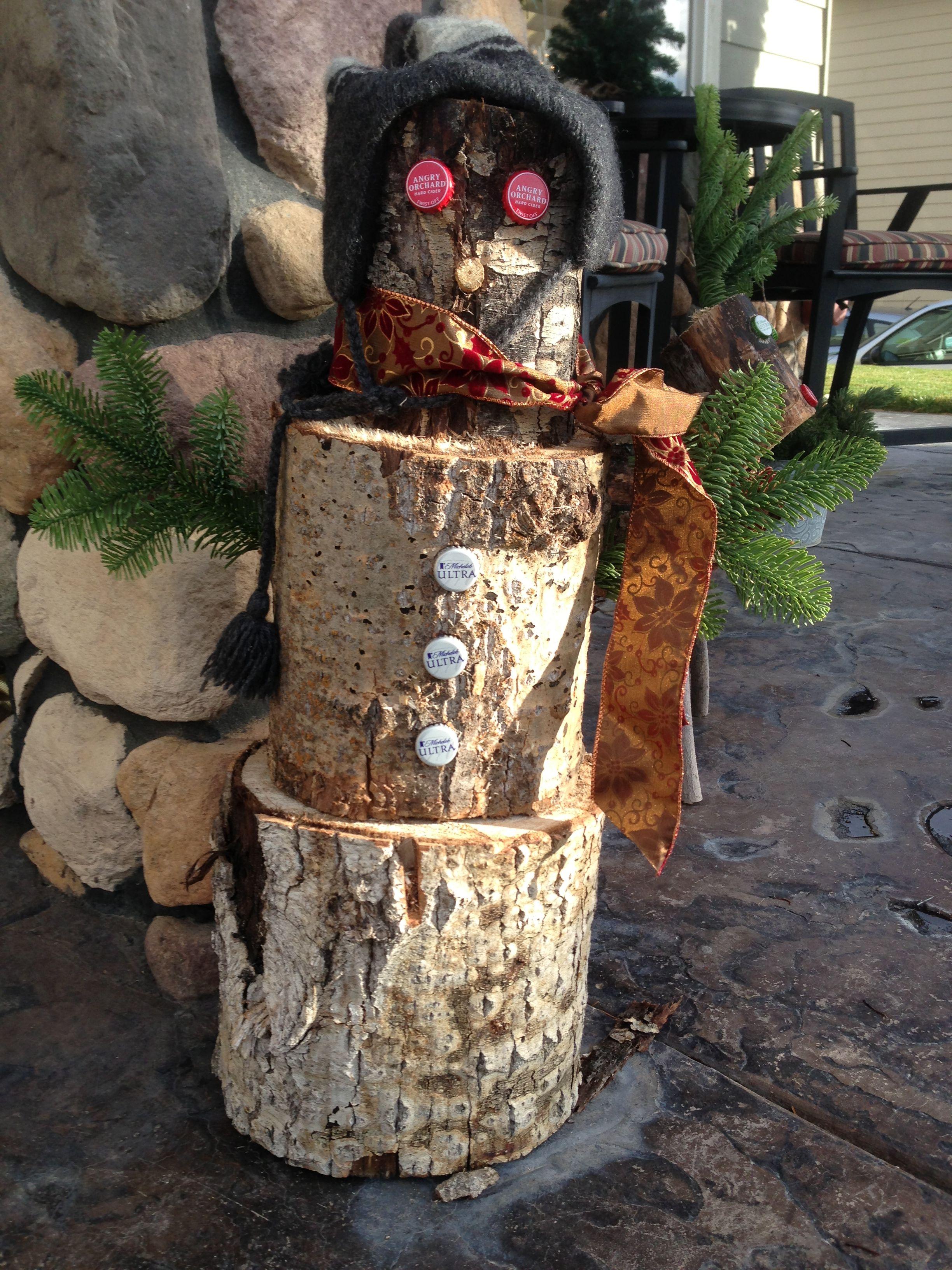 outdoor wooden snowman Wood snowman, Xmas crafts, Wooden