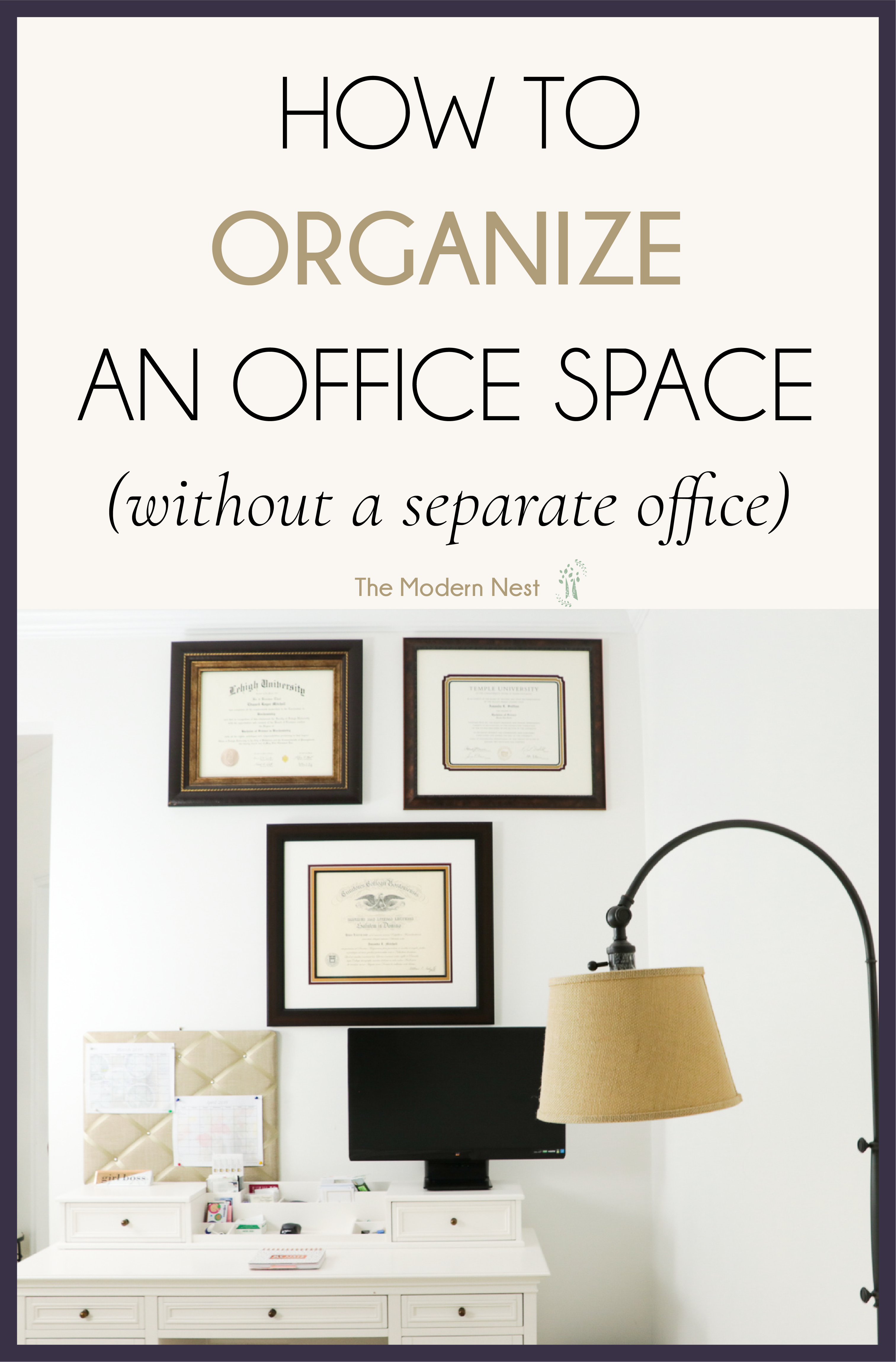 How to Organize an Office Space When You Don\'t Have an Office | Wall ...