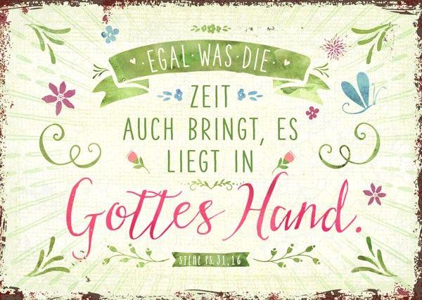 Postkarte - Gottes Hand   gedicht   Christliche sprüche ...