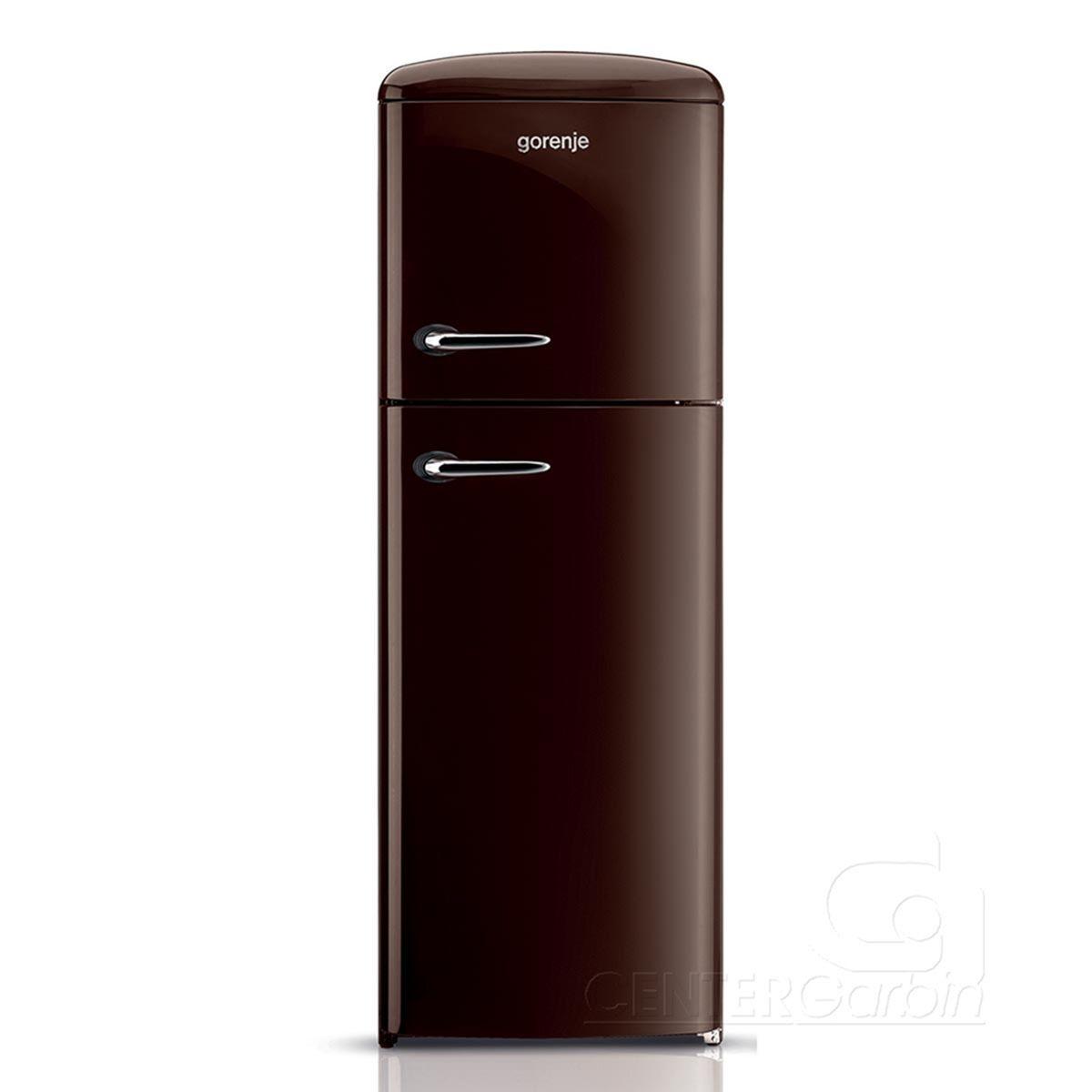 Refrigerador Gorenje Retrô 2 Portas Inverse Dark Chocolate ...