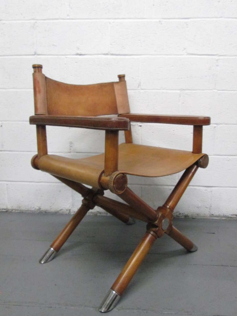 Marvelous Pair Of Ralph Lauren Leather Directors Chairs At 1Stdibs In Ibusinesslaw Wood Chair Design Ideas Ibusinesslaworg