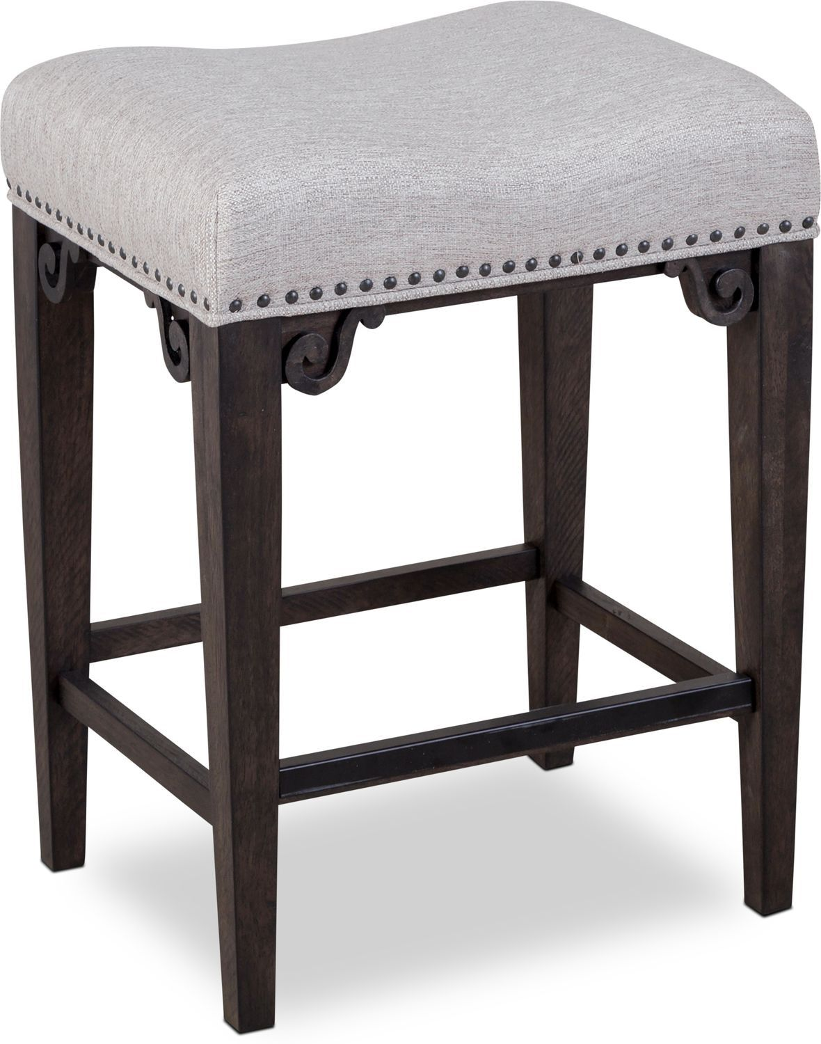 Charthouse Counter Height Backless Stool Charcoal Gray Value City Furniture Backless Bar Stools City Furniture