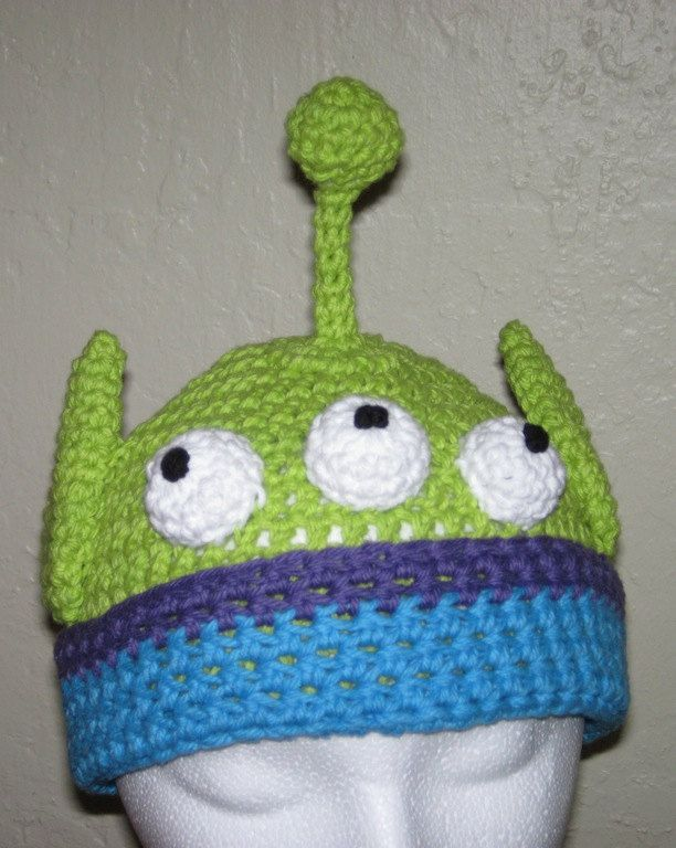 Toy Story Alien Crochet Hat Pattern Pdf Instructions To Make A