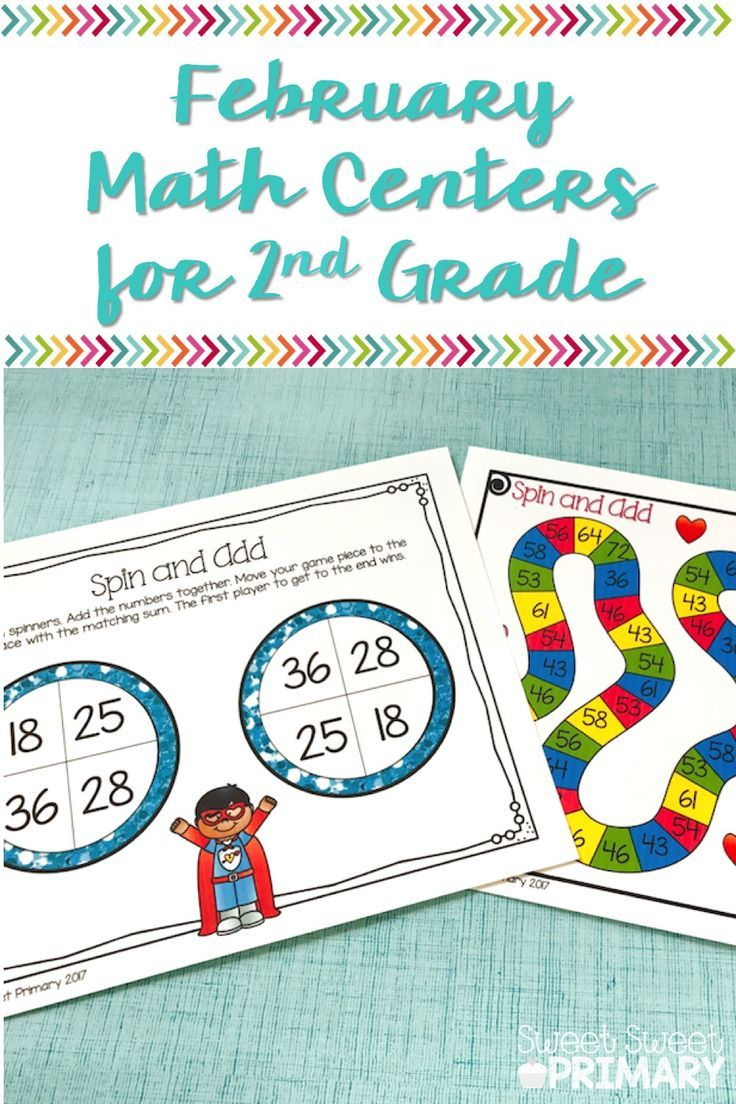 February Math Centers for 2nd Grade | Math, Students and Telling time