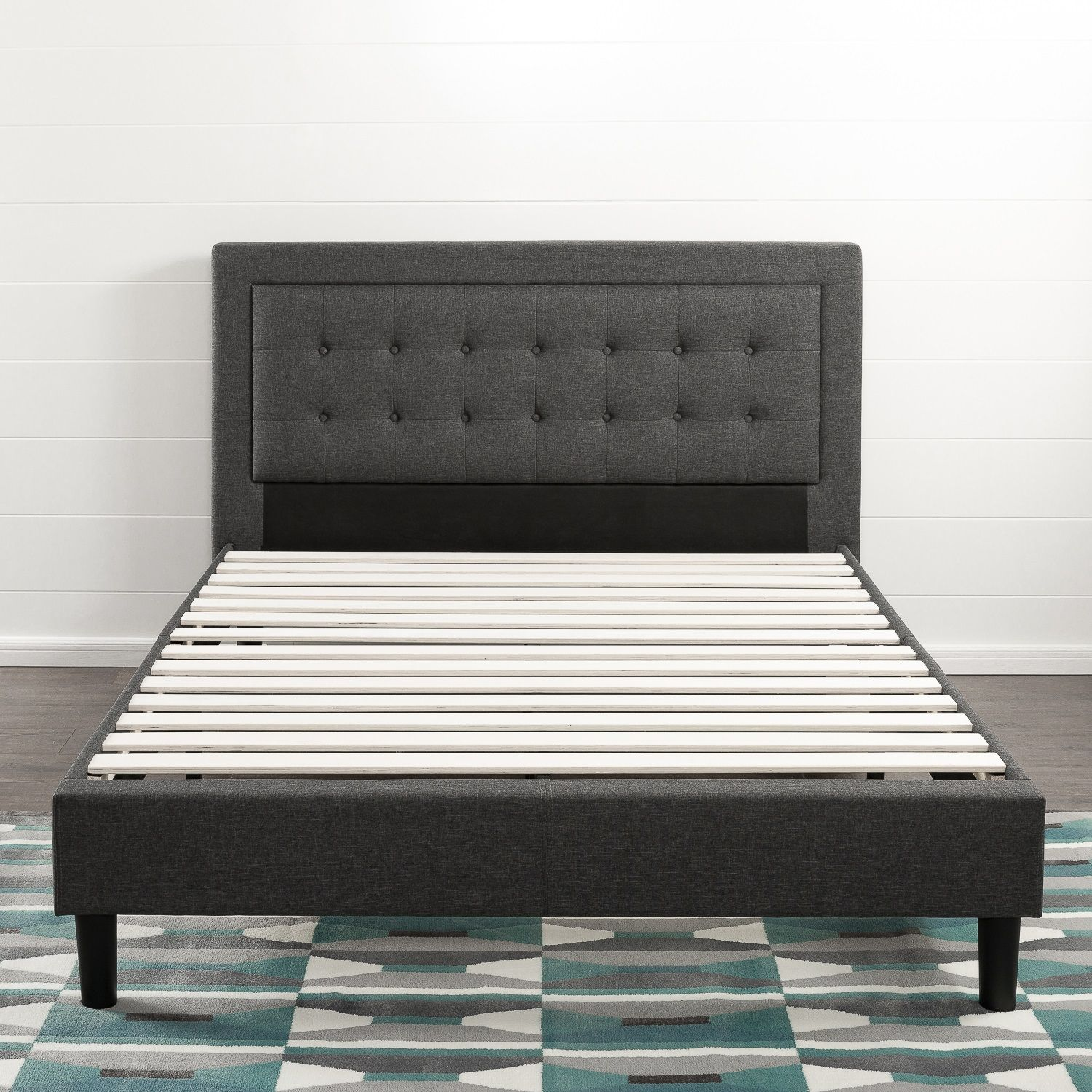 Compact Square Platform Bed Queen size platform bed