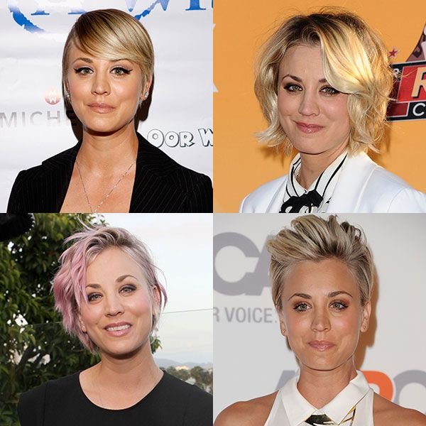 How To Style Short Hair 10 Times Kaley Cuoco Showed Us How To Style Short Hair  Pinterest