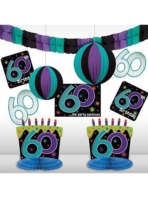 60th Birthday Room Decorating Kit
