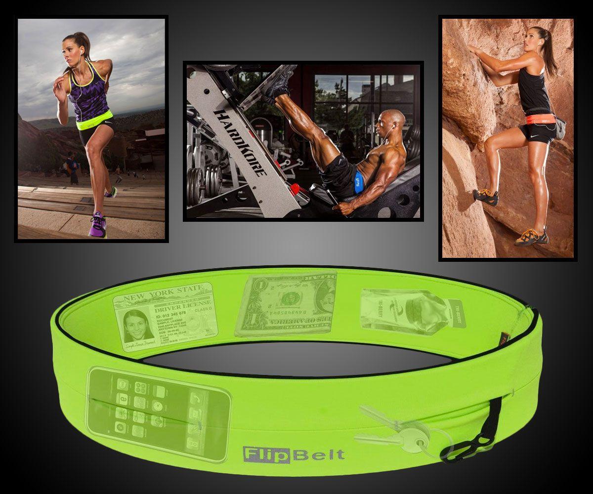 Flipbelt fitness storage belt with images flip belt