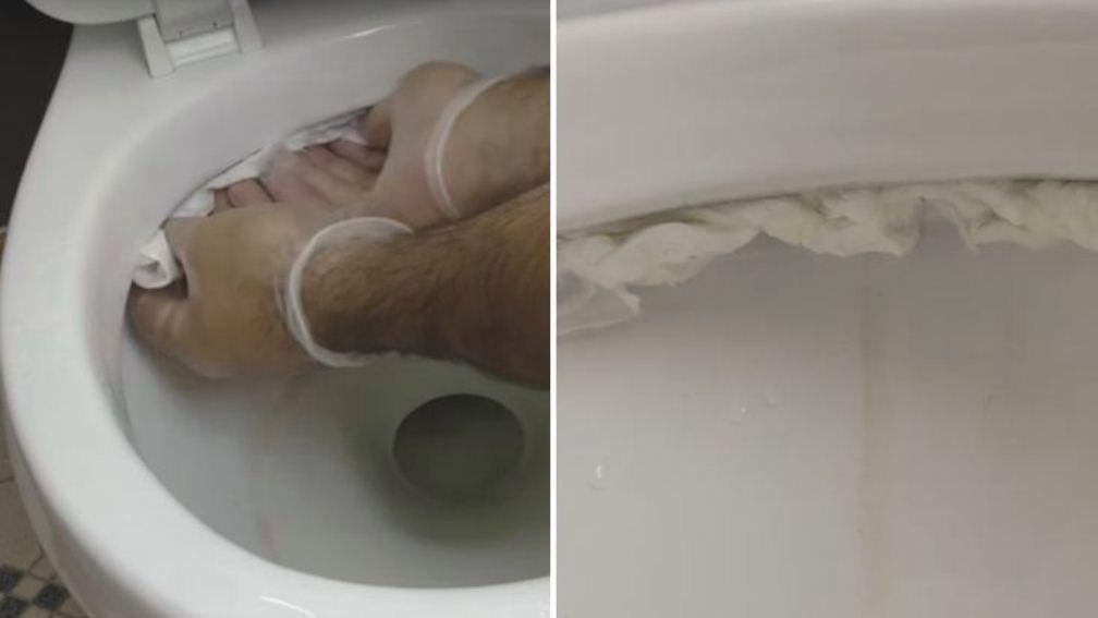 trempez du papier toilettes dans du vinaigre et mettez le. Black Bedroom Furniture Sets. Home Design Ideas