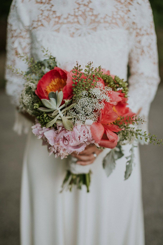 Wedding bouquet - bohemian style