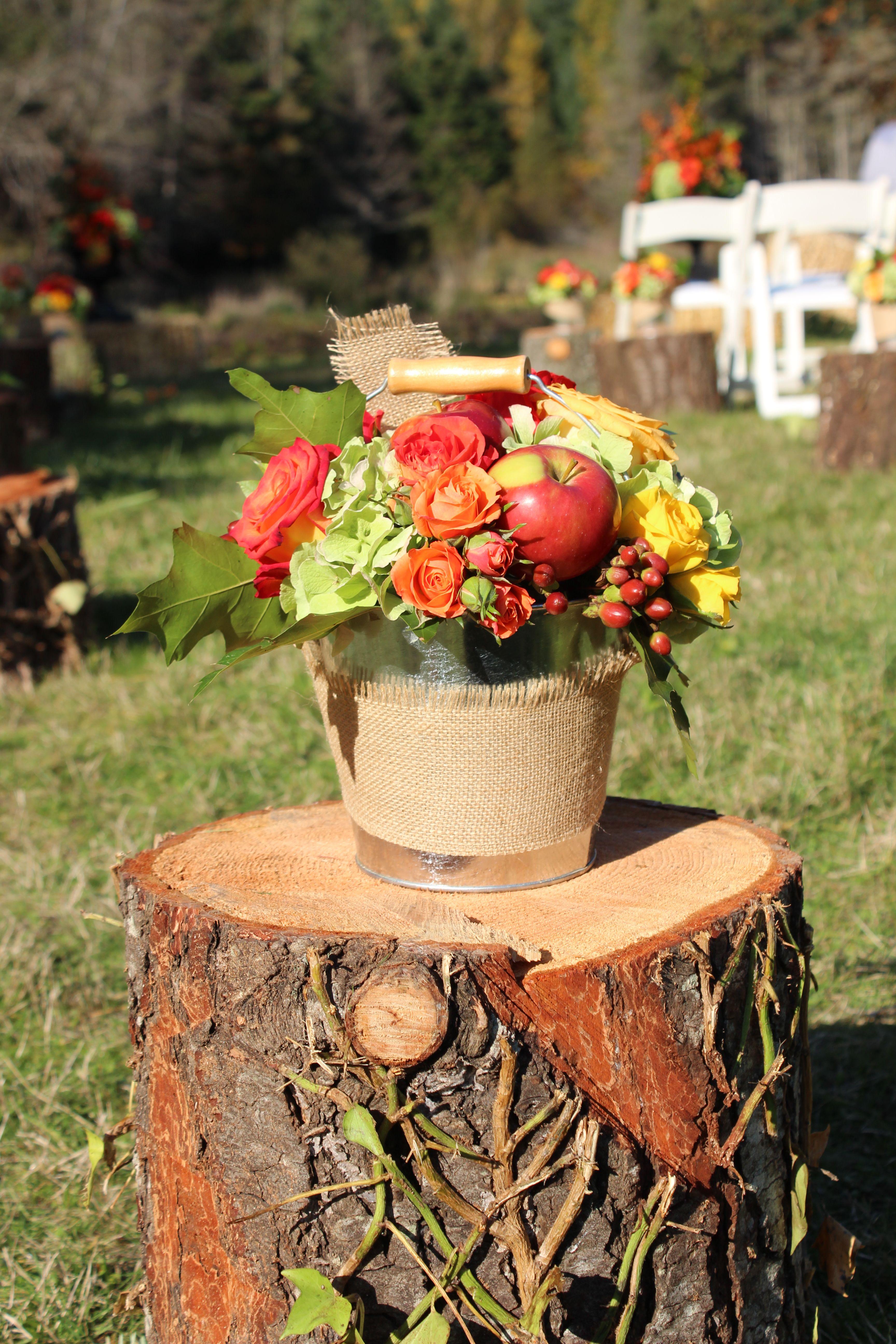 Outdoor fall wedding decor  Outdoor autumn wedding  aisle markers  Rustic wedding  Pinterest
