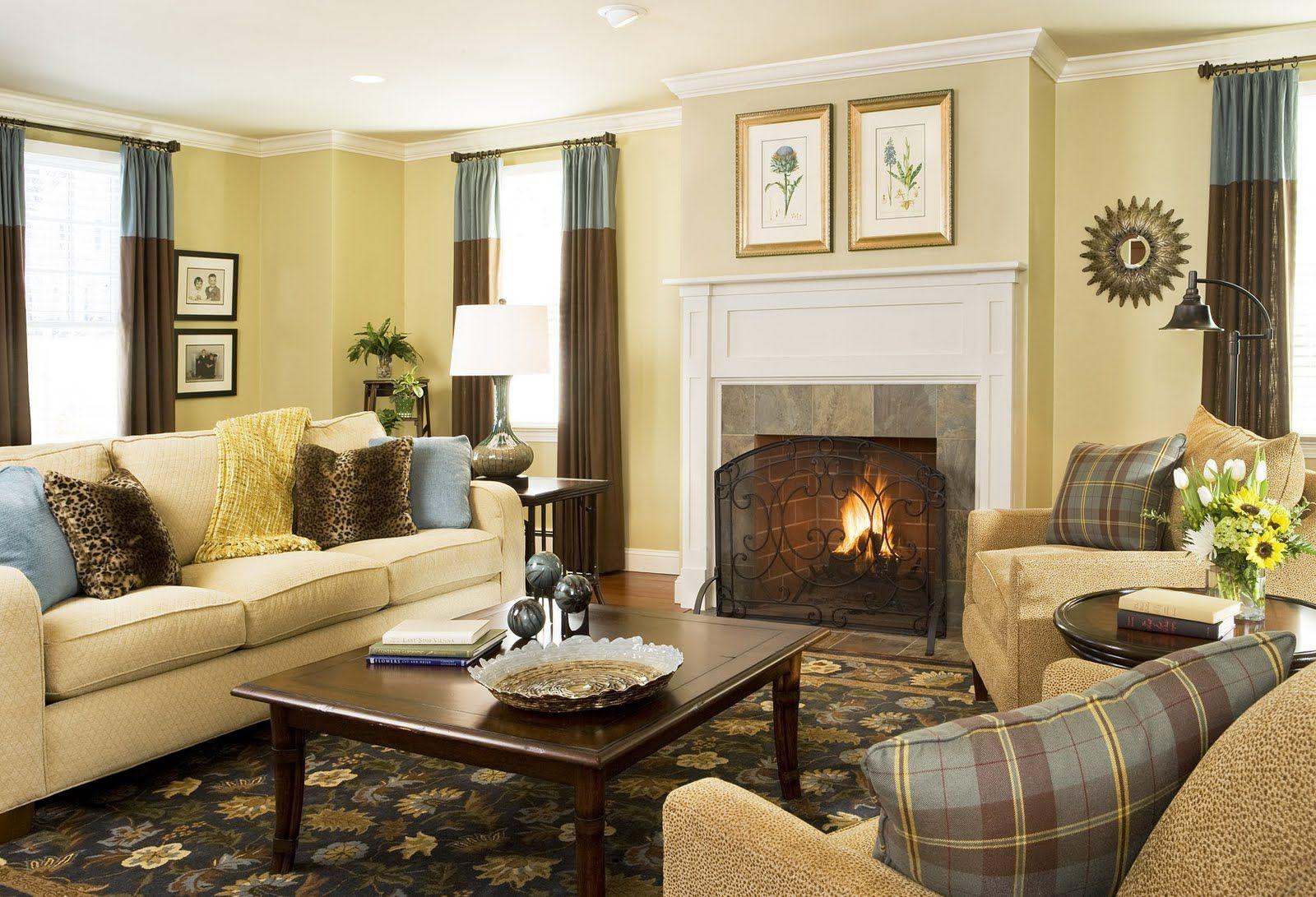 Risultati immagini per dark shabby chic living room  Yellow