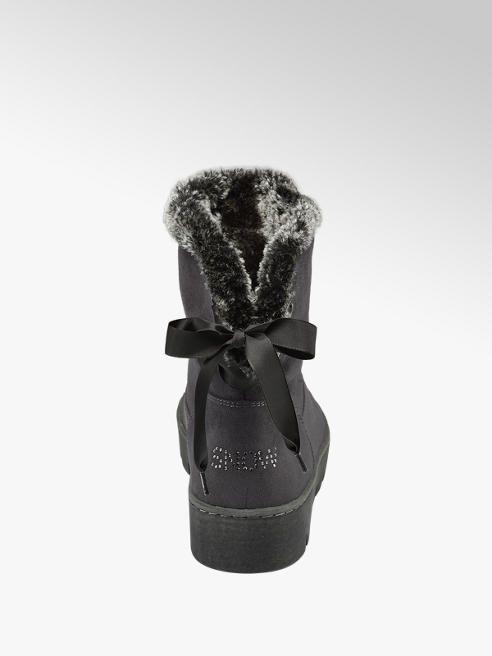 DEICHMANN GRACELAND DAMEN Stiefel mit Fell, schwarz, Schuhe