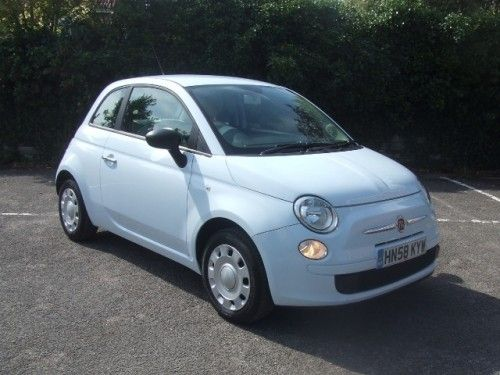 Fiat 500 Pop In Light Blue With Images Fiat Cars Fiat 500