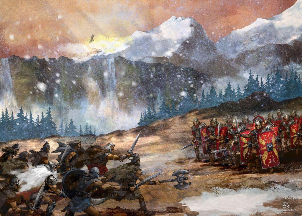 Roman legion in combat in Germania | Germanic War Art ...