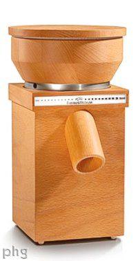 KoMo Grain Mills Official Site: Wood cabinet European flour grinders by designers Wolfgang Mock & Peter Koidl