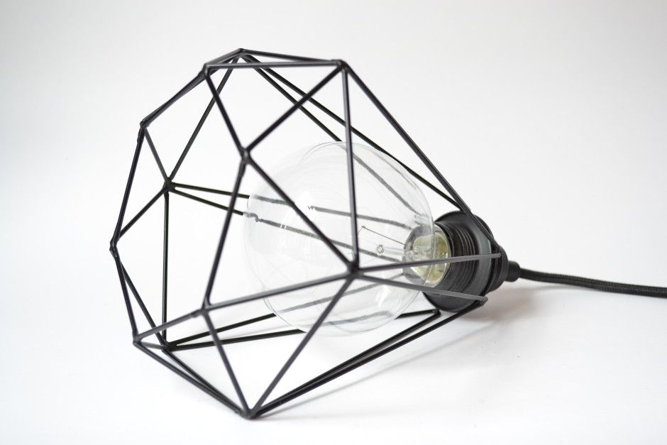 The U0027Diamond Lightu0027 Is A Diamond Shaped Cage That Contains The Globe Bulb  In It. Itu0027s Possible To Hang It But I Personally Like It Better When It  Lays On My ...