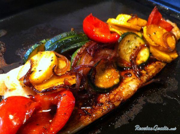 Trucha Al Horno Con Vegetales