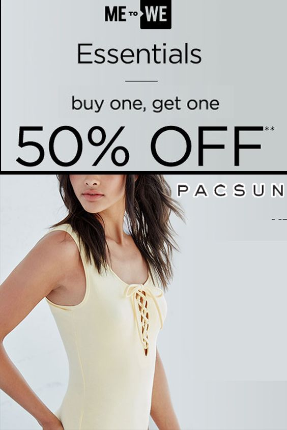 eaf0a11b0ac29 PacSun Store Offering Women s Basic Tops Buy One Get One 50% Off For More  See