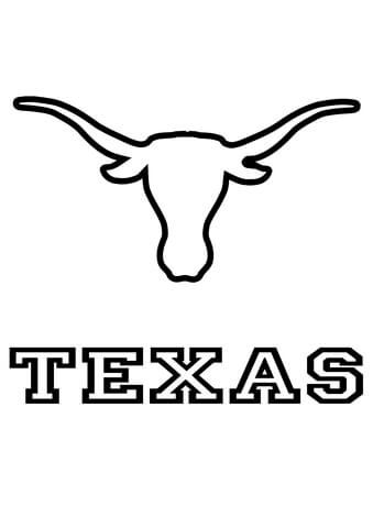 Longhorns Texas Team Coloring Page From Nfl Category Select From