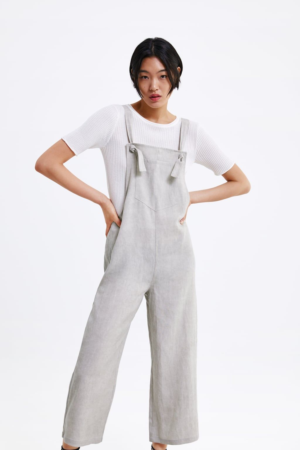 da86fca1a4 Wide-leg jumpsuit with pocket in 2019 | Zara | Jumpsuit, Wide leg ...