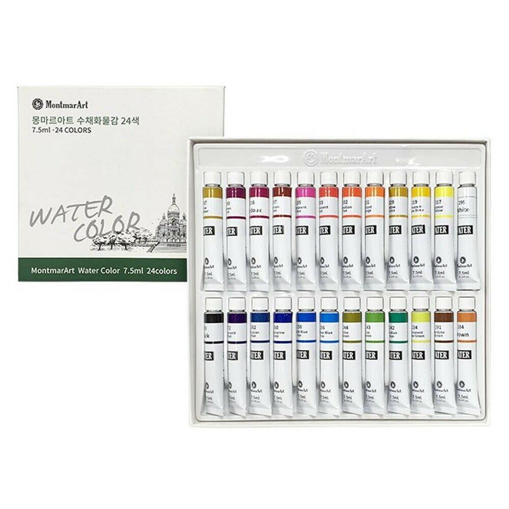 Montmar Art Professional Watercolor Paint 7 5ml Tubes 24 Color Set