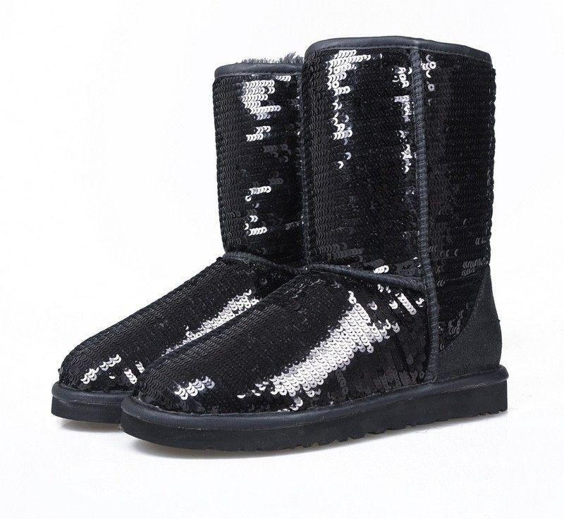 af71f6578d2 Ugg Classic Short Sparkles Boots 3161 Black   Shoes ❤.❤   Boots ...