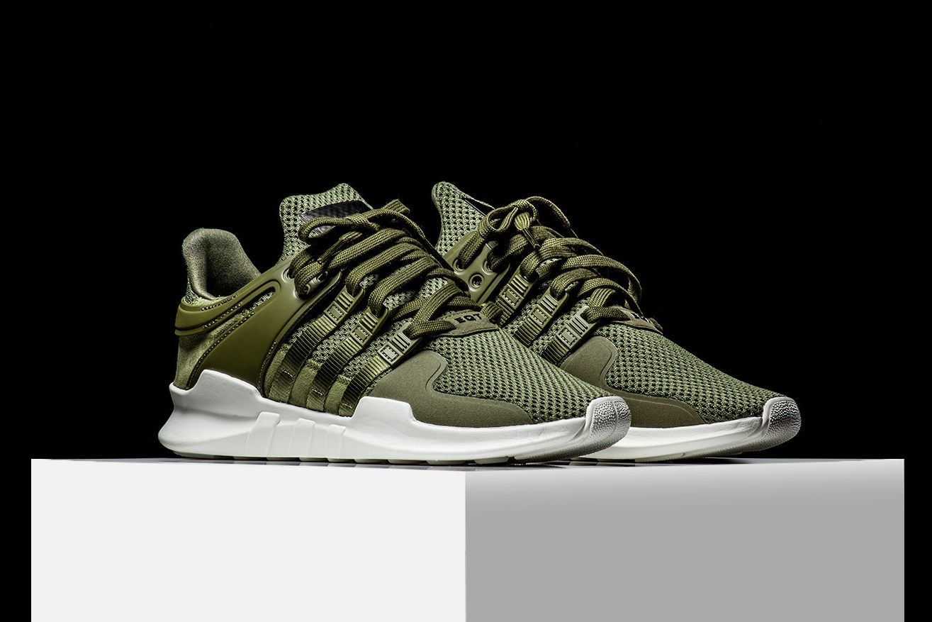info for 11239 bfb31 adidas EQT Support ADV Olive Makes Its Stateside Debut Rise45 adidas  originals three stripes