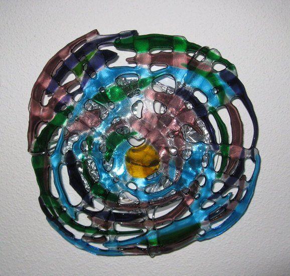Mirjam Van Der Hoorn Bloemenplafonniere Fused Glass Lamp Glazen Lampen Kunstwerk Kunst