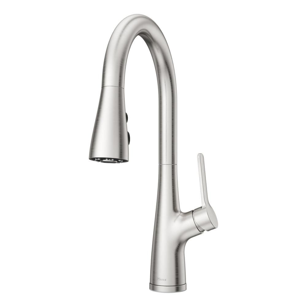 Pfister Neera Single Handle Pull Down Sprayer Kitchen Faucet In