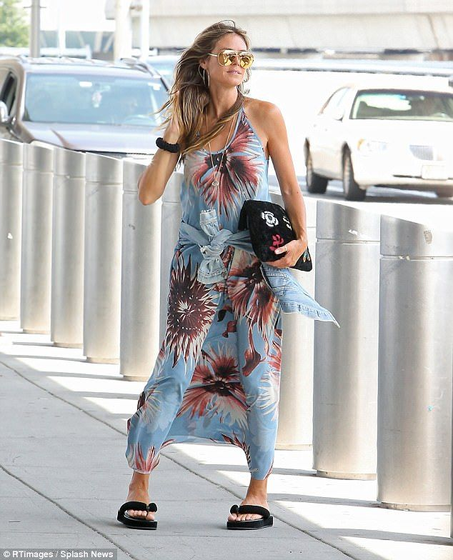 Heidi Klum wore a graphic black and white dress on the red