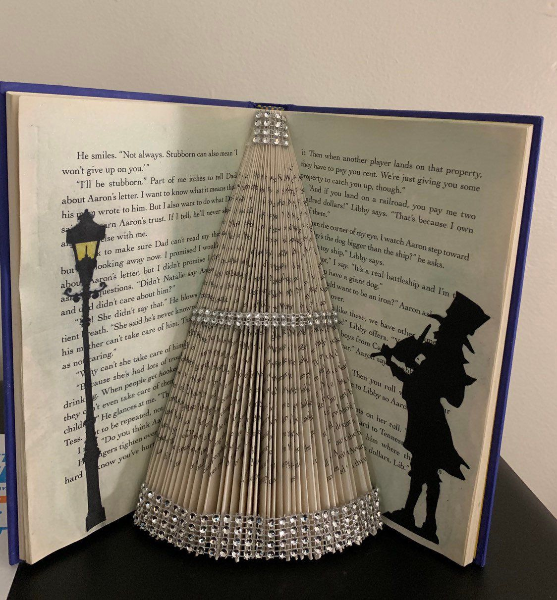 Victorian Musician And The Tree Folded Book Art Sculpture Etsy Folded Book Art Book Art Sculptures Old Book Crafts