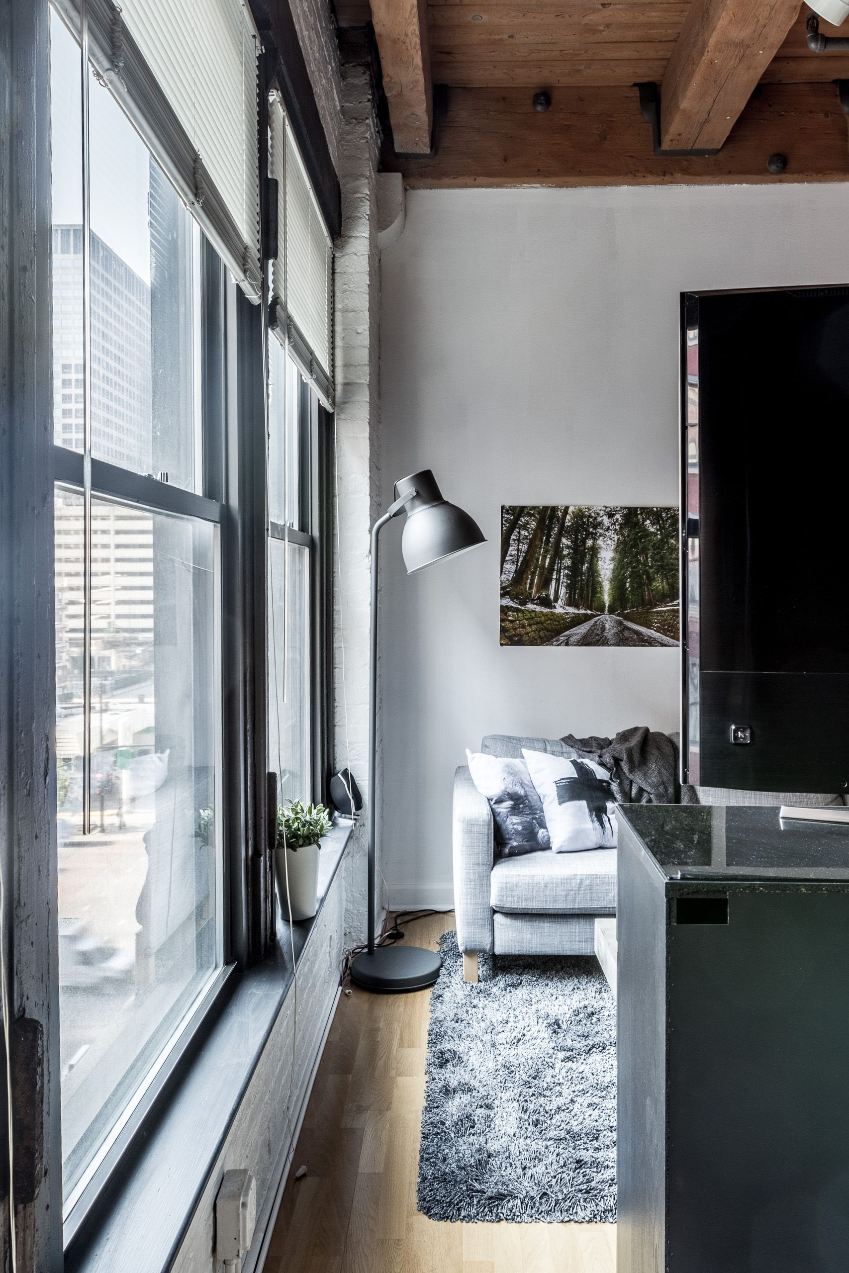 This Printers Row Loft Has 11 Foot Timber Ceilings, Large
