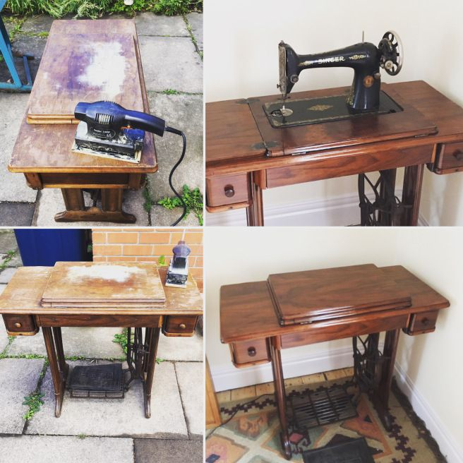 Amazing Sanding My New Old Singer Sewing Machine Treadle Table Download Free Architecture Designs Xaembritishbridgeorg