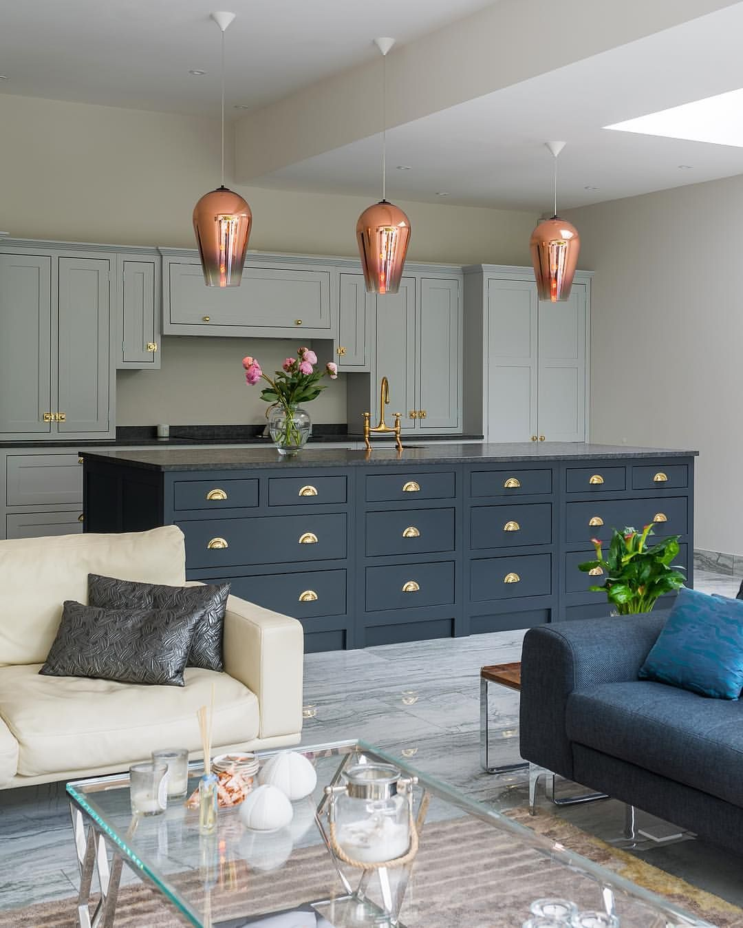 Midnight Blue Kitchen Island: A Beautiful Choice Of 'After Midnight' And 'Brushed Cotton
