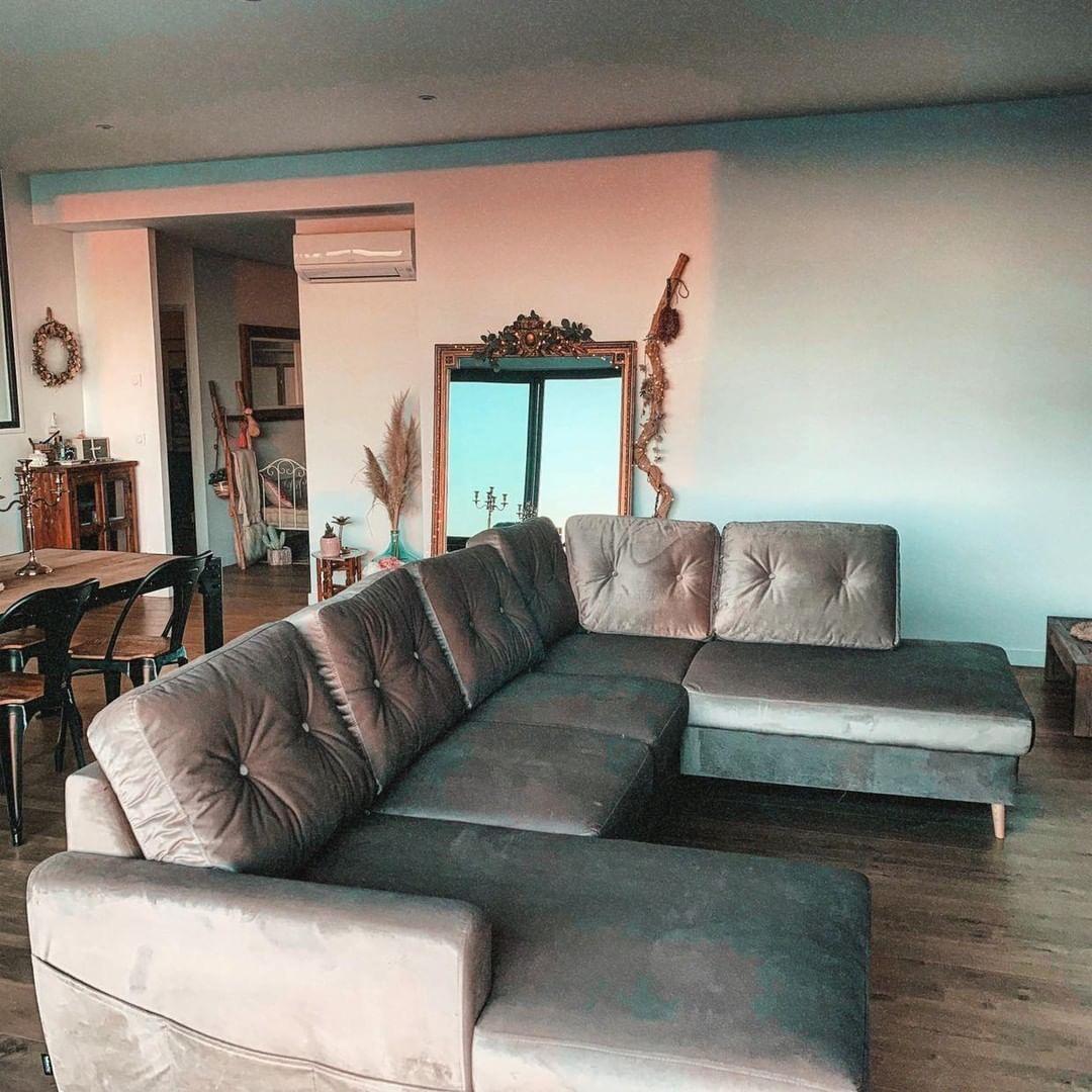 Sofa Panoramic Safe Convertible Xxl Scandi Bobochic Avec