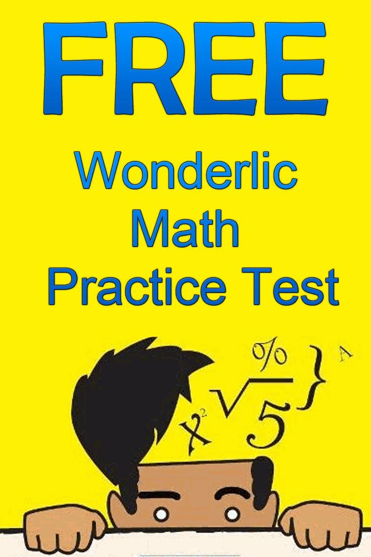 Free Wonderlic Math Practice Test http://www.mometrix.com/academy ...